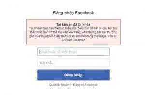 Những nguyên nhân Facebook khóa tài khoản của bạn