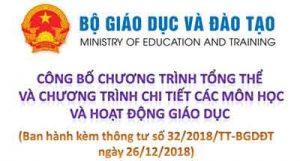 Thông tư 32/2018/TT-BGDĐT ban hành Chương trình giáo dục phổ thông mới