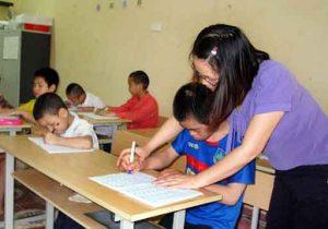 Một số biện pháp giáo dục hoà nhập trẻ khuyết tật dạng khuyết tật ngôn ngữ và khuyết tật trí tuệ