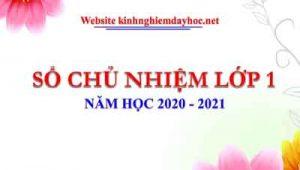 So Chu Nhiem Lop 1