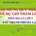 Bài giảng thành phố Đà Lạt. Môn Địa lí lớp 4 tuần 10