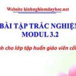 Bài tập trắc nghiệm Module 3.2 (Dành cho GVCC)