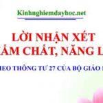 Nhan Xet Thong Tu 27