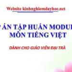 Đáp án môn Tiếng Việt tập huấn Module 3.0
