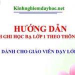 Cach Ghi Hoc Ba Cuoi Nam