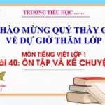 Bài 40 Ôn tập và kể chuyện