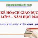 Ke Hoach Giao Duc Khoi 5